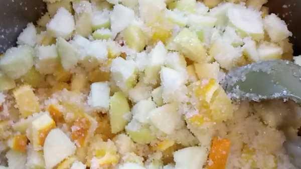 Варенье из яблок с апельсином и лимоном