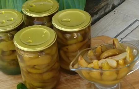 Янтарное варенье из груш с лимонной кислотой на зиму